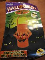 Halloween Craft Activity Kit Jack-O-Lantern Trick or Treat Bag