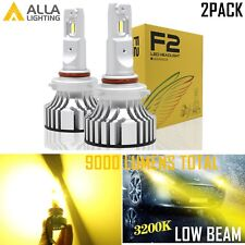 Alla Lighting 9006 LED Low/Main/ Beam Headlight Bulb Light Lamp Golden Yellow