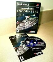Star Trek Encounters Sony Playstation 2 PS2 Video Game w/ Manual Rated E
