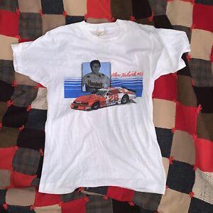 Vintage Alan Kulwicki T-Shirt Large 1985 Hardee's #28 NASCAR