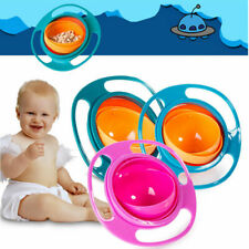 Baby Feeding Bowl Magic 360 degree Rotating Gyro Toddler Infants Non No Spill UK
