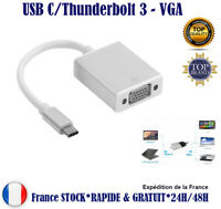 Adaptateur Type C USB C thunderbolt 3 VGA Macbook Chromebook Pixel Lumia 950XL