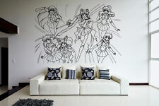 Wall Vinyl Sticker Decal Anime Manga Sailor Moon Girl VY204