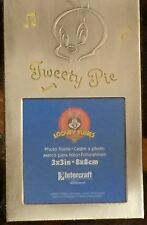 "Tweety Pie Looney Tunes 6 3/4""x4"" Metal Photo Frame picture opening 3""x3"""