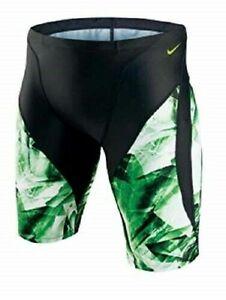 NIKE PERFORMANCE Boys / Mens Kaleidotech Jammer Swimsuit Court Green 20 $52 -NWT