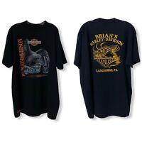 Vtg 91 3D Emblem Harley Davidson Mens Single Stitch Langhorne, PA Shirt 2XL Mint