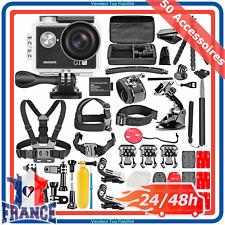 Caméra 4K Sport Étanche Ultra HD WiFi 12MP 170° +50 Accessoires GoPro Action Pro