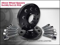 ALLOY WHEEL SPACERS 5X100 5X112 57.1 20MM + EXTENDED BOLTS VW AUDI SEAT SKODA