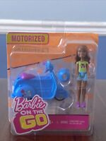"Mattel  Barbie On The Go Motorized Blue Scooter and 4"" Doll"