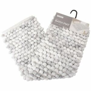 Luxe Bathroom Juno Bath Mat, Grey Rug Shower Bathmat Bobble Super Soft Absorbent