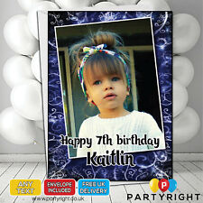 Personalised Photo Birthday Card Any Age • A5 Glossy Greetings Card (S4)