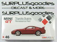 Mini-GT TSM Model 1:64 Overseas Edition LHD Renaissance Red TOYOTA SUPRA (JZA80)