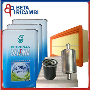 Kit Tagliando Fiat Grande Punto Evo 1.4 GPL 57 KW 77 CV Filtri  Olio 5W40 Gas