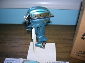 TOY OUTBOARD  MOTOR 1954 EVINRUDE K&O  BATTERY OPERATED MOTOR FOR TOY WOOD BOAT