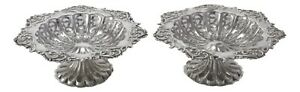 Antique - Sterling Silver - Pair of Pierced Dishes Colen Hewer Chester - 1905