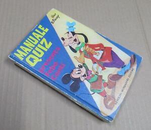 MANUALE QUIZ Walt Disney per ragazzi - ed. Mondadori 1974