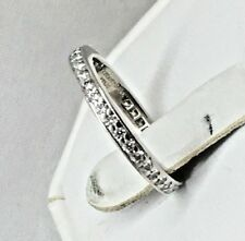 Tiffany & Co 0.32ctw Diamond Platinum 2.3mm Eternity Novo Full Band Ring 4 ½