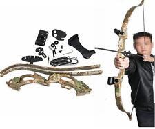 "New ABS 48"" Camo Archery Takedown  Recurve Bow Set Training Shooting Arrow Rest"