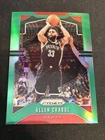 2019-20 Panini Prizm Basketball Allen Crabbe Green Prizm Atlanta Hawks
