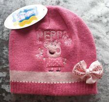 BNWT CUTE LITTLE GIRLS PINK PEPPA PIG BEANIE HAT, AGE 2-3 YEARS