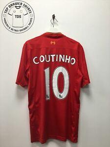Coutinho Liverpool home Football Shirt 2016/2017 Men's Extra Large XL