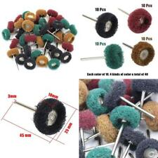Grinding 40Pcs 25mm Abrasive Buffs Polishing Buffing Wheel Dremel Rotary Tool