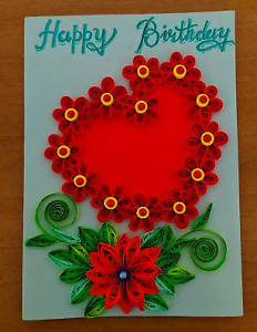 Birthday Card Handmade Quiling Greeting Cards colorful gift card for anyone