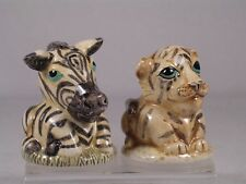 Harmony Kingdom / Ball -Pot Bellys 'Tiger and Zebra' Salt & Pepper Shakers-New!