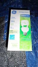 GE Energy Smart Home light CFL Bulb Spiral US Standard Base 75/20 W Fluorescent