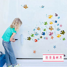 Sea Fish Ocean Animal Removable Wall Sticker Kids Room Bathroom Decal Home Decor