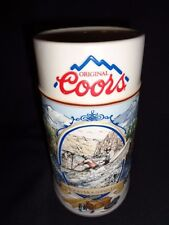 "Coors ""Rocky Mountain Legend White Water "" Beer Stein Mug NEW NEVER USED"