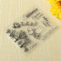 DIY Christmas Tree&Music Silicone Clear Rubber Stamp Sheet Scrapbooking Album