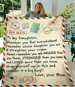 To My Daughter Whenever You Feel Overwhelmed Love Mom Quilt, Fleece Blanket