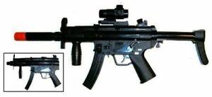 TD-2007 Kids Toy Military Assault Rifle Gun with Flashing Lights Sound Vibration