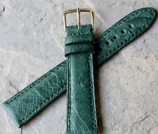 Tourneau NY stunning Genuine Ostrich 20mm vintage watch band old stock 1960s/70s