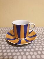Wawel Poland. Espresso Cup And Saucer. Blue & Gold