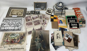 Big Lot Of Old Photos And Film Rollers From Estate Sale.