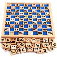 Enfant Bébé Jouet Éducatif Montessori Mathématique Bloque Jeux Bois Nombre 1-100