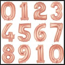 """26"""" ROSE GOLD FOIL NUMBER BALLOON Birthday Anniversary Party Wedding - US Seller"""
