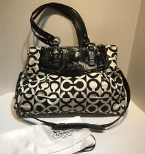 Coach Ashley OP Art Signature C Sabrina Satchel Shoulder Bag 14587