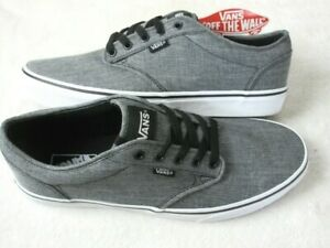 Vans Mens Atwood Rock Textile Grey Black White Skate Casual Shoes Size 11.5 NWT