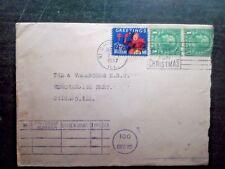 Xmas seal tied to 4 Vagabonds Band cover 1937
