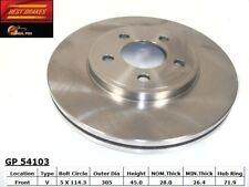 Disc Brake Rotor-Standard Brake Rotor Front Best Brake GP54103
