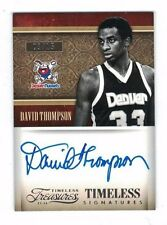 DAVID THOMPSON 2013-14 Panini Timeless Treasures AUTO #9/15 Signatures ON CARD