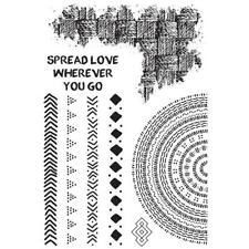 GYPSY ROSE Collection Clear Unmounted Rubber Stamp Set Kaisercraft CS331 New