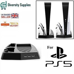 Vertical Cooling PS5 DualSense Double Controller Joypad Charging Dock Station UK