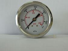 Pressure gauge 2800kpa/406psi 50mm gauge Rear entry