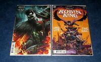 DARK KNIGHTS DEATH METAL ROBIN KING #1 1:25 ROBERTS variant & reg DC COMIC 2020