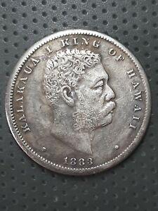 Coin 1/2 Hawaiian Dollar, 1883