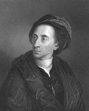 Poet ALEXANDER POPE Homer Oxford Dictionary Quotations, 1835 Art Print Engraving